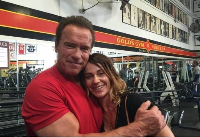 Nadia Comăneci And Arnold Schwarzenegger