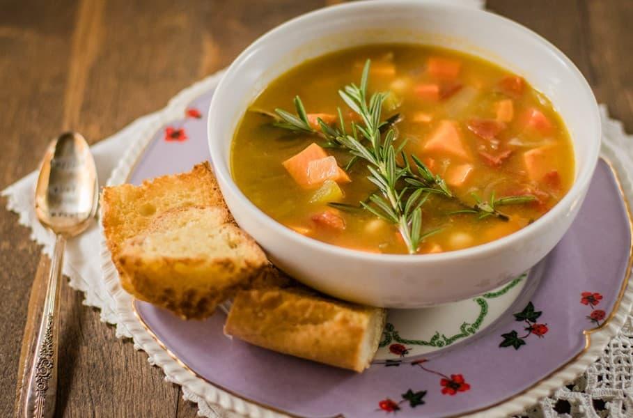 Creamy Sweet Potato And Vegetable Soup