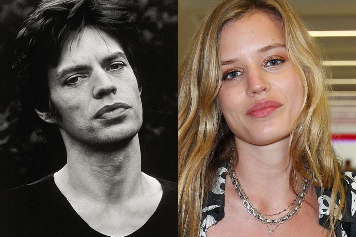 Mick Jagger – Georgia May Jagger (25 Years Old)