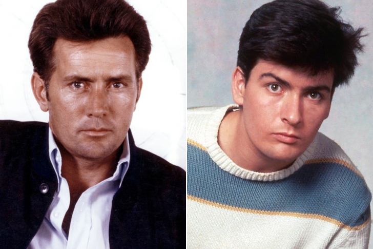 Martin Sheen – Charlie Sheen (28 Years Old)