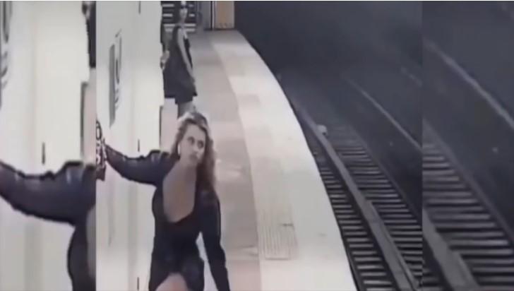 Grabbing her shoe